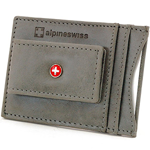 best alpine swiss mens leather money clips with card holder