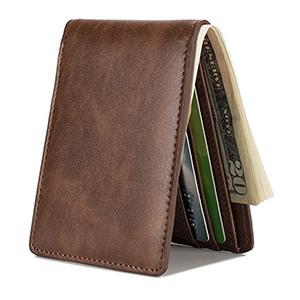 best hissimo mens front pocket slim bifold wallet