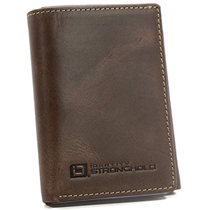 best ID stronghold genuine leather rfid wallet