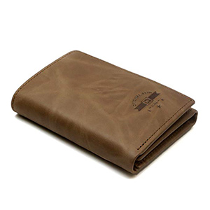 best ID stronghold leather rfid wallet trifold