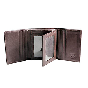 best stealth mode leather RFID tri fold wallet