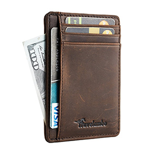 best travelambo front pocket slim wallet