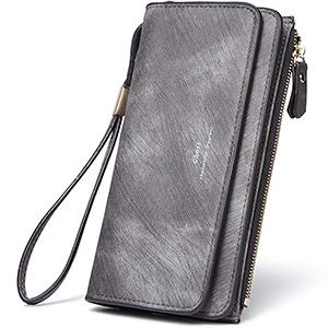 best cluci womens pu leather wristlet wallet