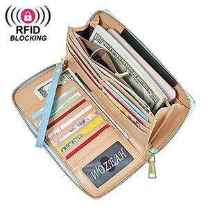 best wozeh womens pu leather wristlet wallet